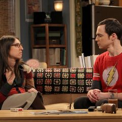 Sheldon and Amy at her place.