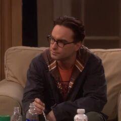 Leonard listens to Sheldon's rambling.