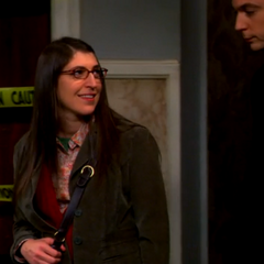 Amy happy that Sheldon is back after learning of his affection for her.