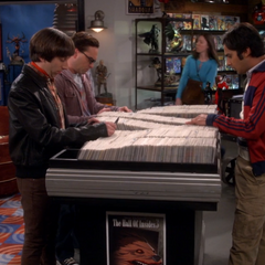 Talking about gifts for Sheldon.