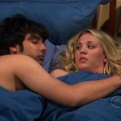 Penny wakes up with Raj.