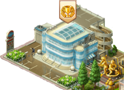 Administrative Building with Achievement Notification