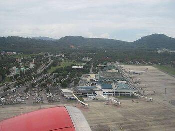 Phuket airport view