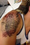 Kendall skull tattoo 1