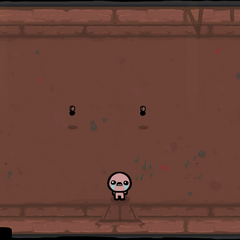 Two Attack Flies in the center, with a rock in each corner of the room.