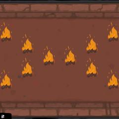 A cross of fire.