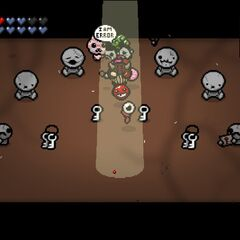 I AM ERROR room from Rebirth, featuring keys and beggars.
