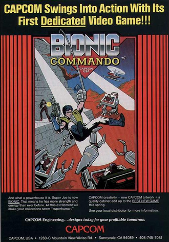 Bionic Commando arcade flyer