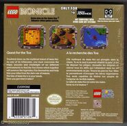 The back of Bionicle Quest for the Toa US version