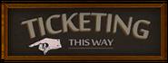 Ticketing arrow sign