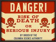 DANGER CSA Billboard