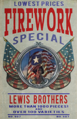 Lewis Brothers fireworks poster
