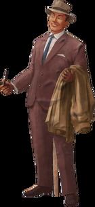 Cut Out Businessman Model Render