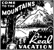 Come To The Mountains Clip Art Arcadia A Place To Get Away Ad