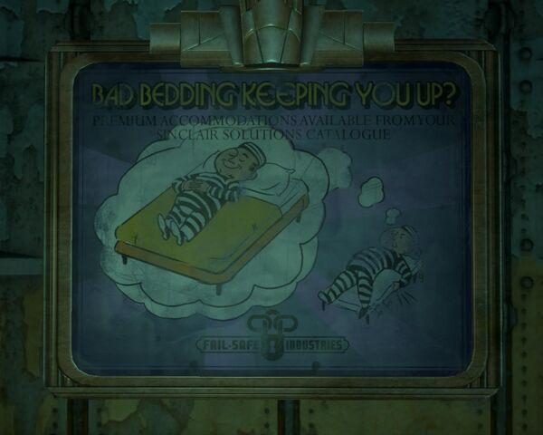 File:BioShock 2-Inner Persephone - Fail-Safe Industries advertising bed f0357.jpg