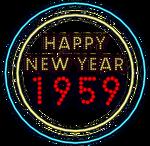 Happy New Year 1959 Neon