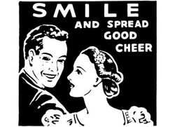 Smile and Spread Good Cheer Clip Art Bedtime Surprise Ad