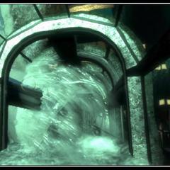 Uçak tünele çarparken.