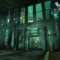 <i>BioShock'tan uyarlanmış Rapture'ın Karşılama Merkezi.</i>