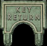 Key Return sign