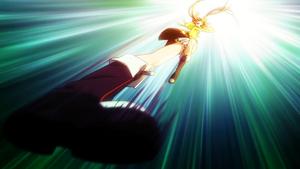Enju about to kick Sumiaki (Pre Release)