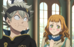 Mimosa interacting with Asta during the banquet