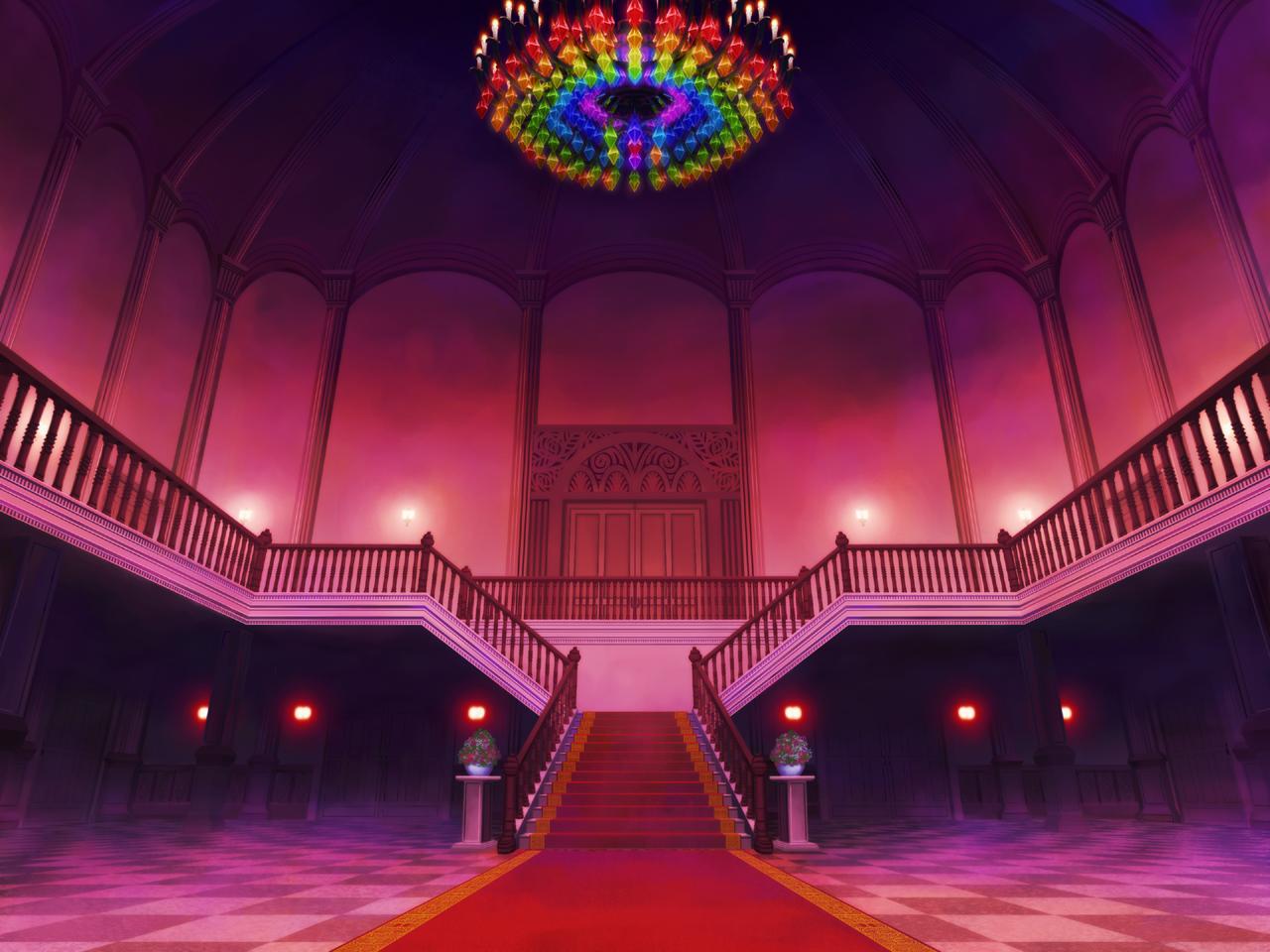 Foyer Wallpaper Game : Scarlet devil mansion black white wiki fandom powered