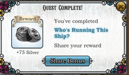 Quest Who's Running This Ship?-Rewards