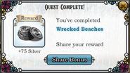 Quest Wrecked Beaches-Rewards