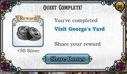 Quest Visit George's Yard-Rewards