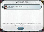 Quest Visit George's Yard-Tasks