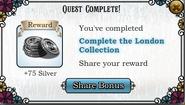 Quest Complete the London Collection-Rewards