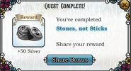 Quest stones not sticks-Rewards