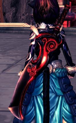 Crimson True Lynblade back