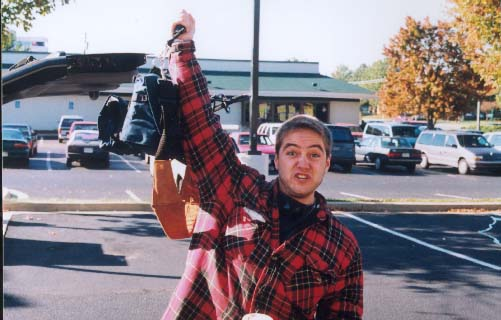 File:Mike posing with his DAT the first day of the shoot.jpg