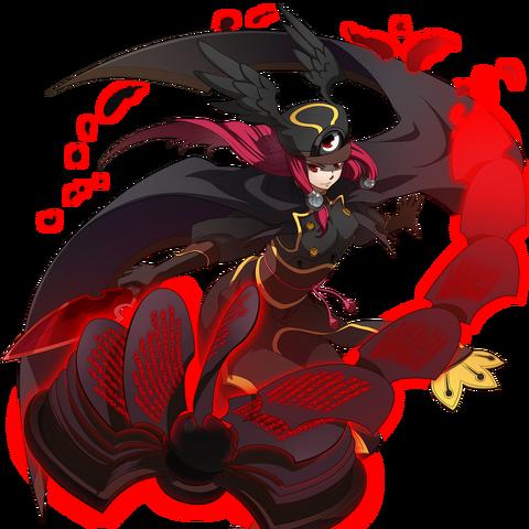 File:Tsubaki Yayoi (Chronophantasma, Story Mode Artwork, Pre Battle).png