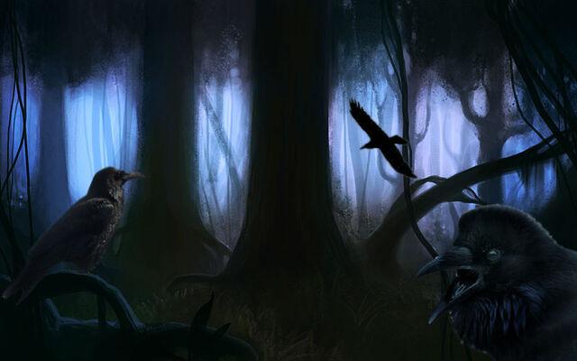 File:Dark forest ravens by stopinthenameofme.jpg