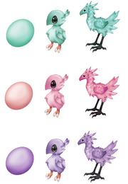 Squiby 3 More Chocobos by bebopgroove