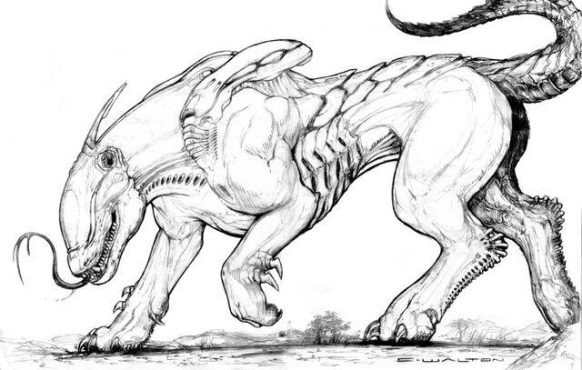 File:Splicers gorehound new xeno breed by chuckwalton-d5a9112.jpg