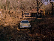 The-Evil-Dead-1981-cabin-Delta-88-Oldsmobile