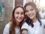 Jaimie with fan venice