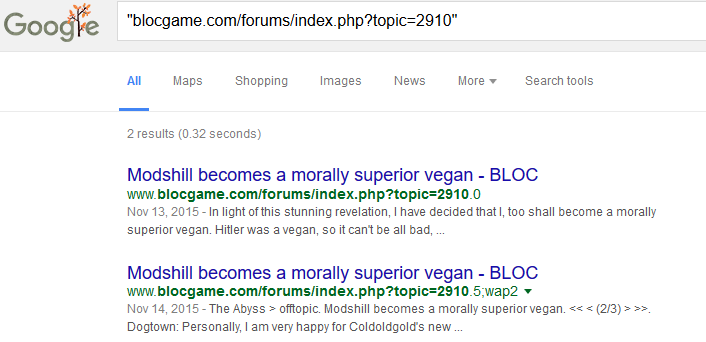 Topic 2910 Modshill becomes a morally superior vegan