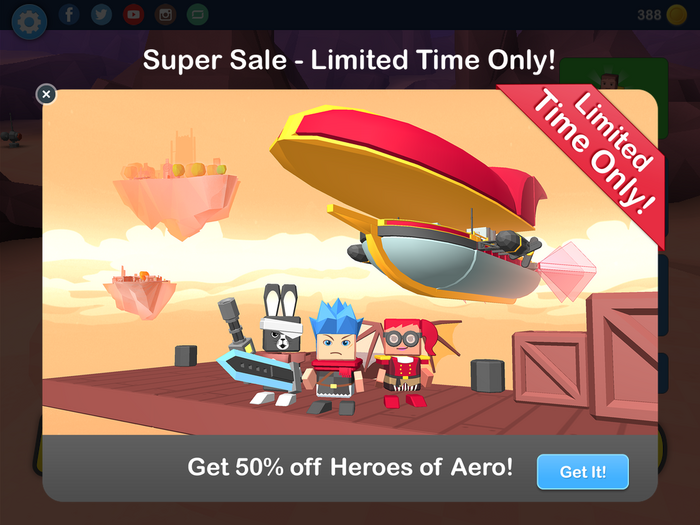 New Super Sale - Heroes of Aero!