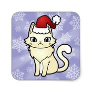 Design your own cartoon cat christmas sticker-rc38c0c31fed04e8ea570659929173e80 v9wf3 8byvr 324