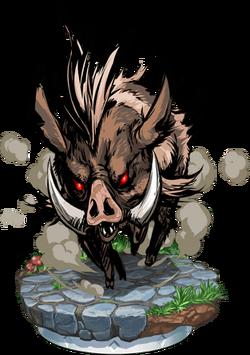 Wild Boar + Figure