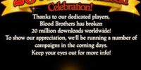 20 Million Download Celebration