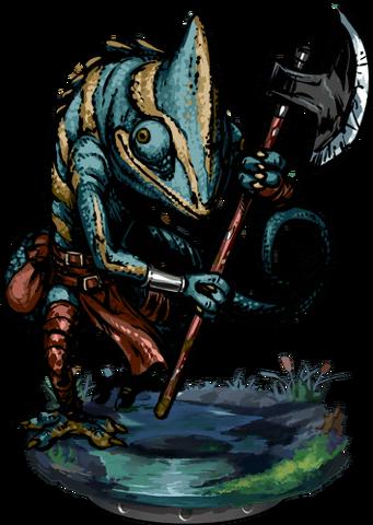 File:Lizardman Tribal Warrior II Figure.png