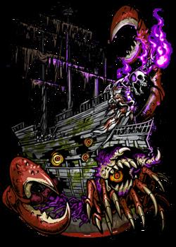 Inhabited Ghost Ship II Figure