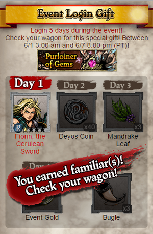 Purloiner of Gems Event Login