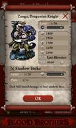 Zanga, Dragonian Knight Base Stats